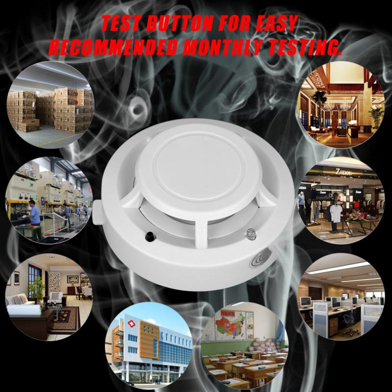 Fire Alarm Detector Photoelectric Smoke Sensor Home Security Device New