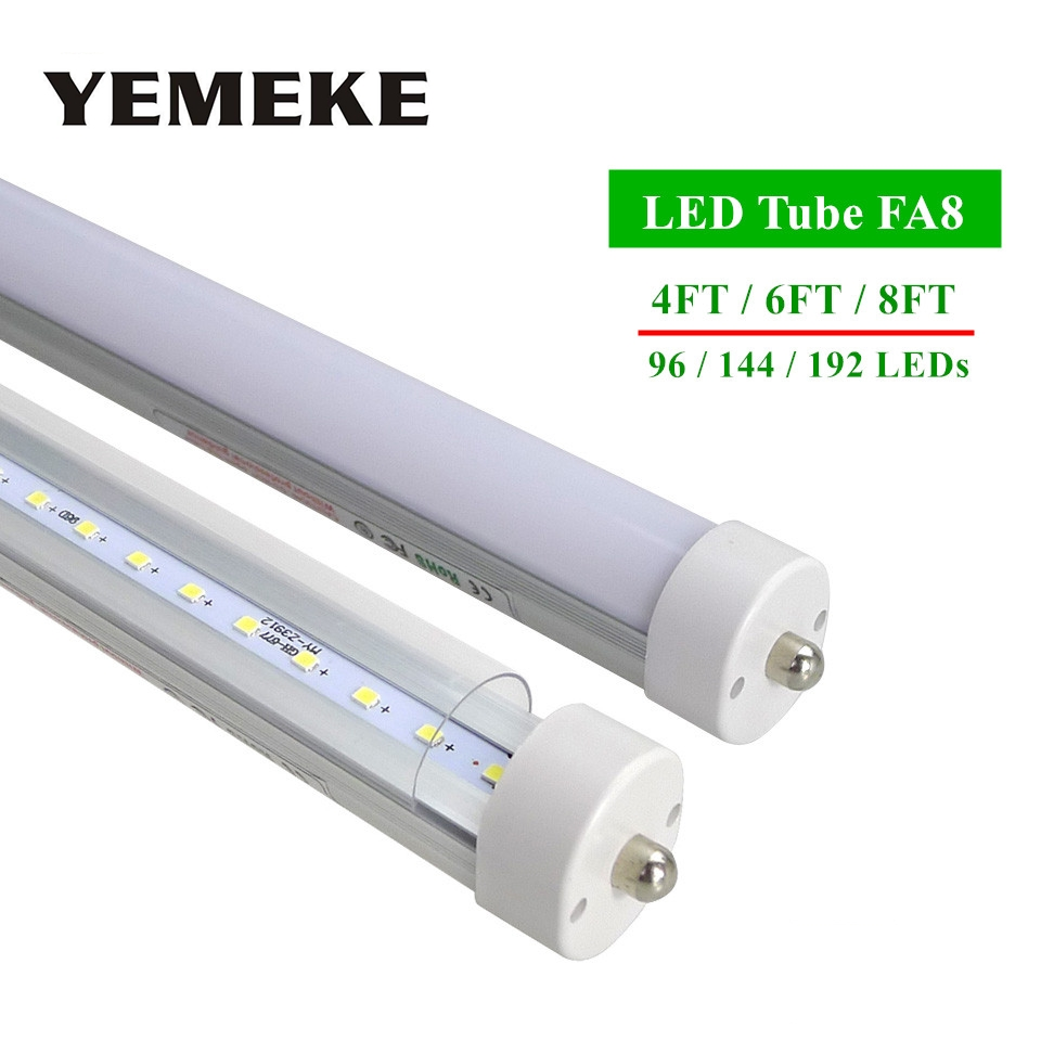 FA8 LED Bubs Tubes T8 4ft 6ft 8ft LedTube Light High Super Bright 1.2m 1.8m 2.4m Led Fluorescent Tube Cool Warm White AC85-265V прогулочная коляска cool baby kdd 6699gb t fuchsia light grey