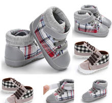 Fall Winter Baby Shoes Toddler Boys Girls Soft Sole Crib Sneakers Shoes Fashion Little Baby Plaid Anti-slip Sports Shoes(China)