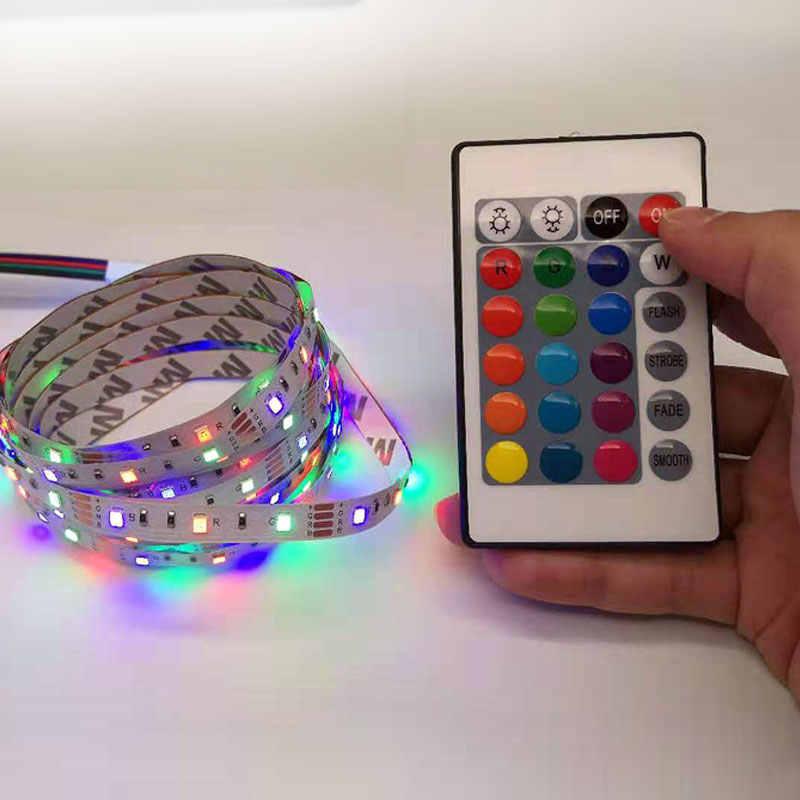 Taśma LED USB światło TV lampy RGB 5 V 6 V SMD 3528 kabel USB zasilanie 50 CM 1 M 2 M 3 M 4 M 5 M boże narodzenie lampa taśma TV oświetlenie tła