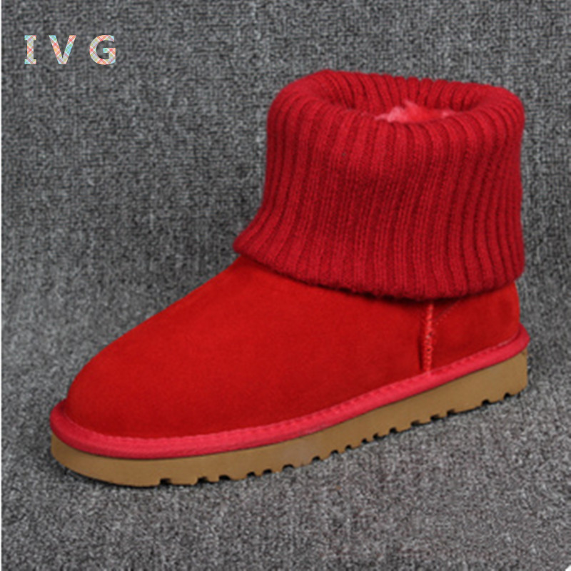 new Womens winter boots Australia Classic Cover the hair line mouth Snow Boots ugs Warm Leather Ankle Boots Brand IVG size 4-13