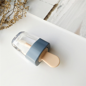 Image 4 - 1pc空のリップグロスチューブ容器クリーム瓶diyブラシメイクアップツール化粧アイスクリーム透明なリップクリーム詰め替えボトル