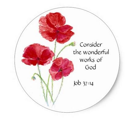 15inch scripture inspirational quote flower poppy classic round 15inch scripture inspirational quote flower poppy classic round sticker in stationery sticker from office school supplies on aliexpress alibaba mightylinksfo
