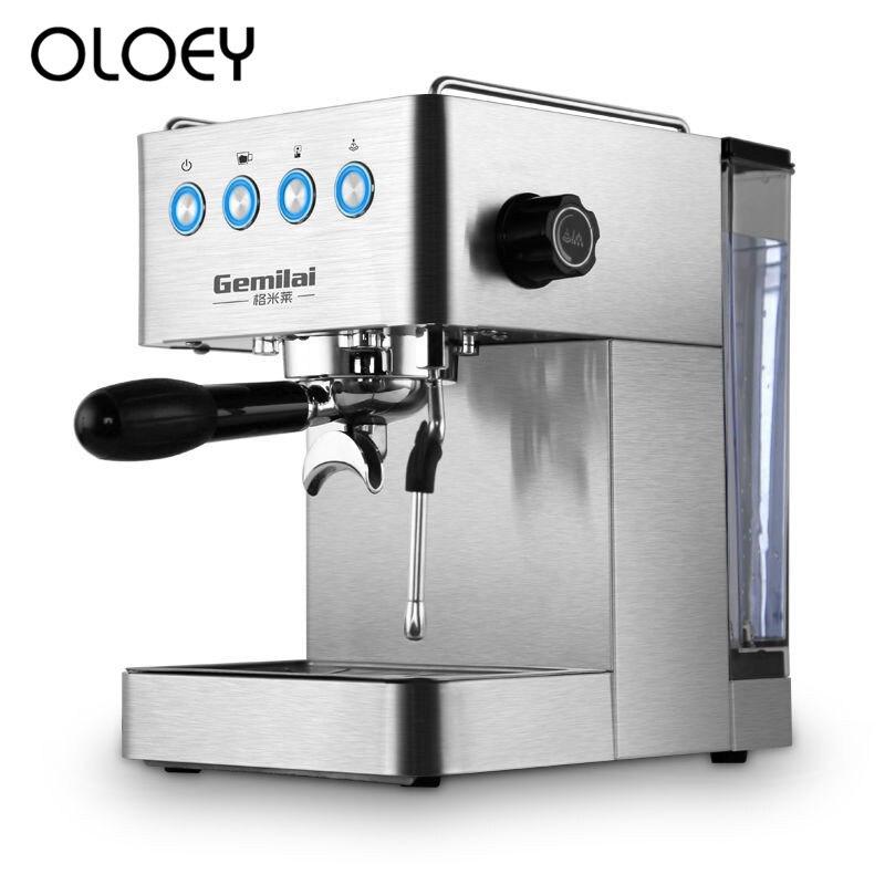 Tipo de Bomba de Pressão de Vapor Semi Casa Máquina de café Italiana Cheia 1.7L grande Capacidade