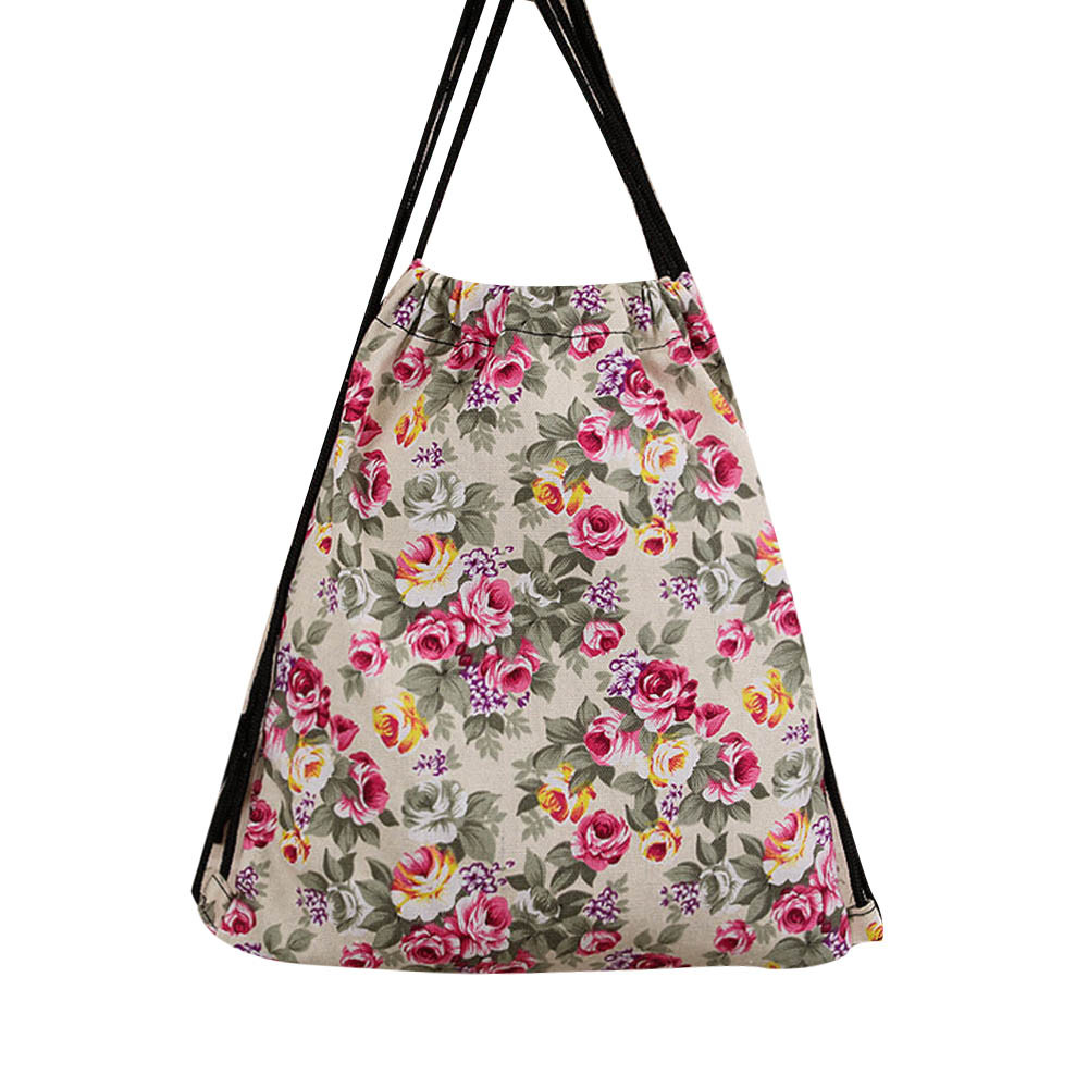 Floral Drawstring Backpack Promotion-Shop for Promotional Floral ...