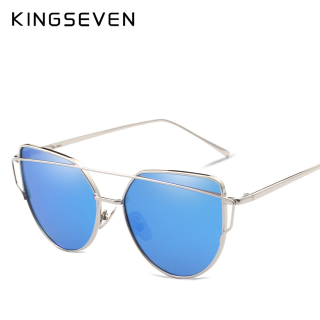 Kingseven Brand designer 2017 Cat Eye Sunglasses Women Polarized de sol Points Glasses Female eyewear Women's shades N794