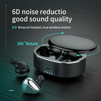 Teamyo T50 TWS Bluetooth Headset Wireless Earphone Handfree Bluetooth Headphones 360 Rotate Bluetooth Earphone Sport for phone