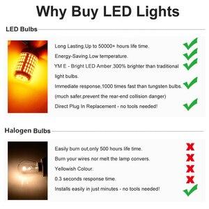 Image 5 - YM E Bright 2PCS LED Canbus P21W BA15S PY21W BAU15S 3030 35 SMD 1156 ข้อผิดพลาดฟรีรถไฟ 12V DCไม่มีHyper Flash Amberสีแดง