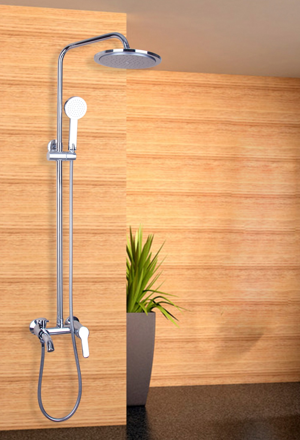 Torayvino Chrome Polished Waterfall Rain Shower Faucet & Hand Shower Wall Mounted Single Handle Bathroom Faucet Mixer Tap free shipping polished chrome finish new wall mounted waterfall bathroom bathtub handheld shower tap mixer faucet yt 5330