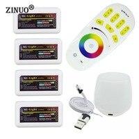 ZINUOMilight RGB RF Uzaktan Kumanda + 4 ADET 4 Bölge Kontrolörü Kutusu + Led WiFi Kontrolör 5050 3528 RGB Led şerit LED ampuller