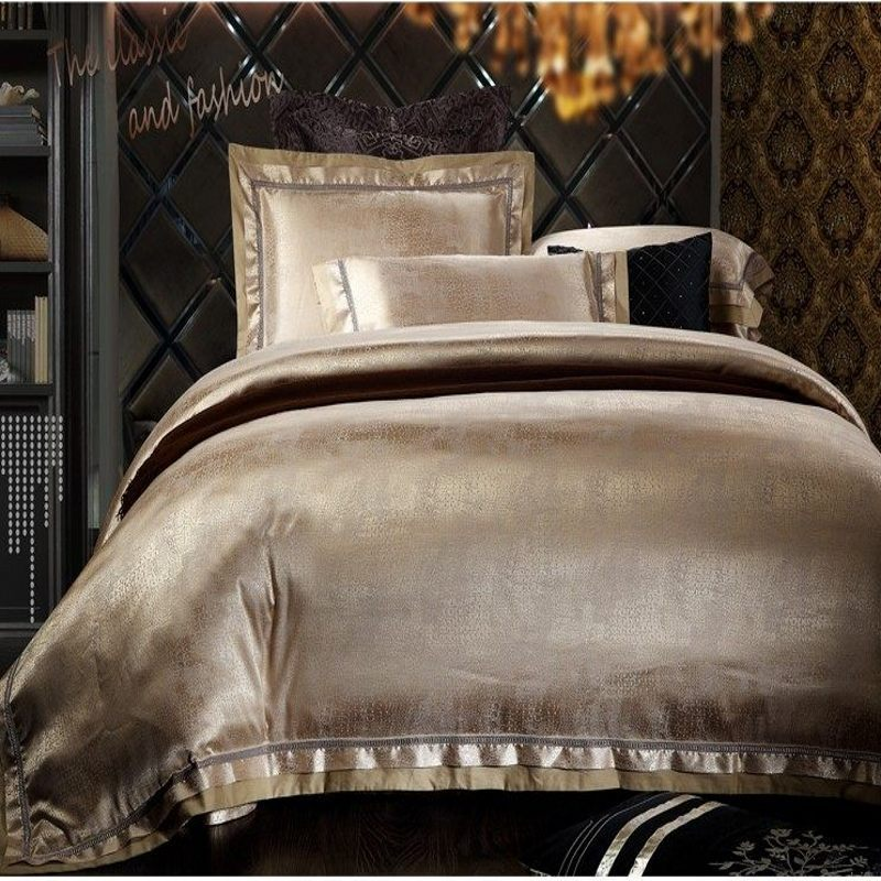 Champagne Satin Comforter