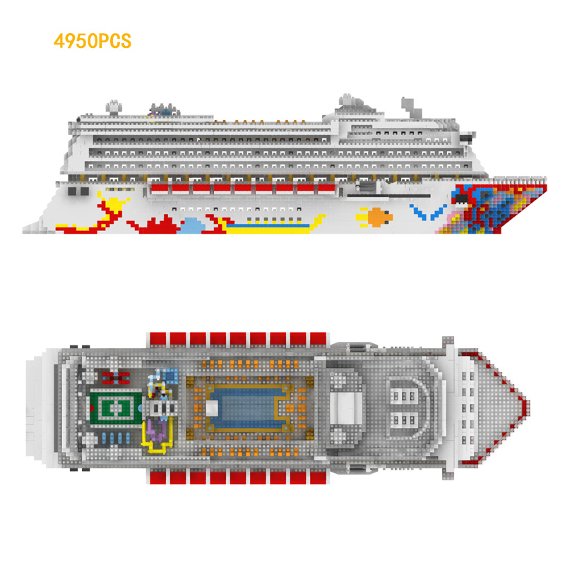Hot Star dream Deluxe Cruise micro diamond building block creator nanoblock ship model minifigs toys collection for gifts creator hot world famous city funland micro diamond building block castle nanoblock assemble model bricks toys collection gifts