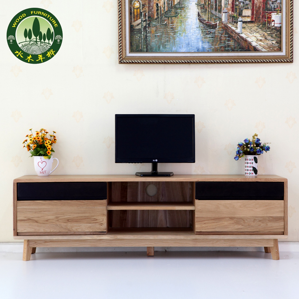 Mizuki In Birch Wood White Oak Furniture Four Pumping Lcd Tv Cabinet