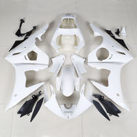 Unpainted Motorcycle Motorbike White Black ABS Injection Fairing Body Work Kit For Yamaha YZF R6 YZF R6 2005