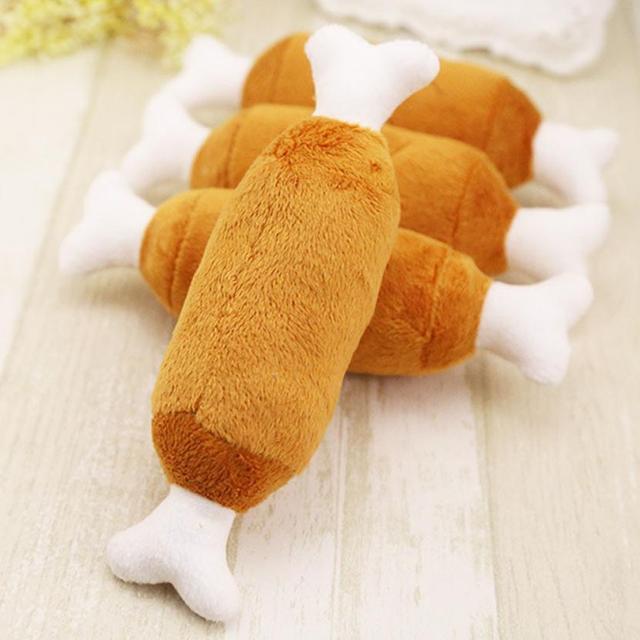 Hot Velvet Pet Dog Cat Chicken Legs Plush Tosy Interactive Sound Toys Pet Supplies Dog Plush