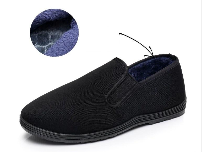 Зимняя хлопковая обувь Брюс Ли Винтаж китайский Одежда высшего качества обувь кунг-фу WingChun занятий тапочки M Книги по искусству ial Книги по искусству натуральный хлопок обувь