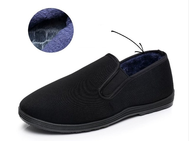 Winter Cotton Shoes Bruce Lee Vintage Chinese Top Quality KungFu Shoes WingChun TaiChi Slipper Martial Art Pure Cotton Shoes