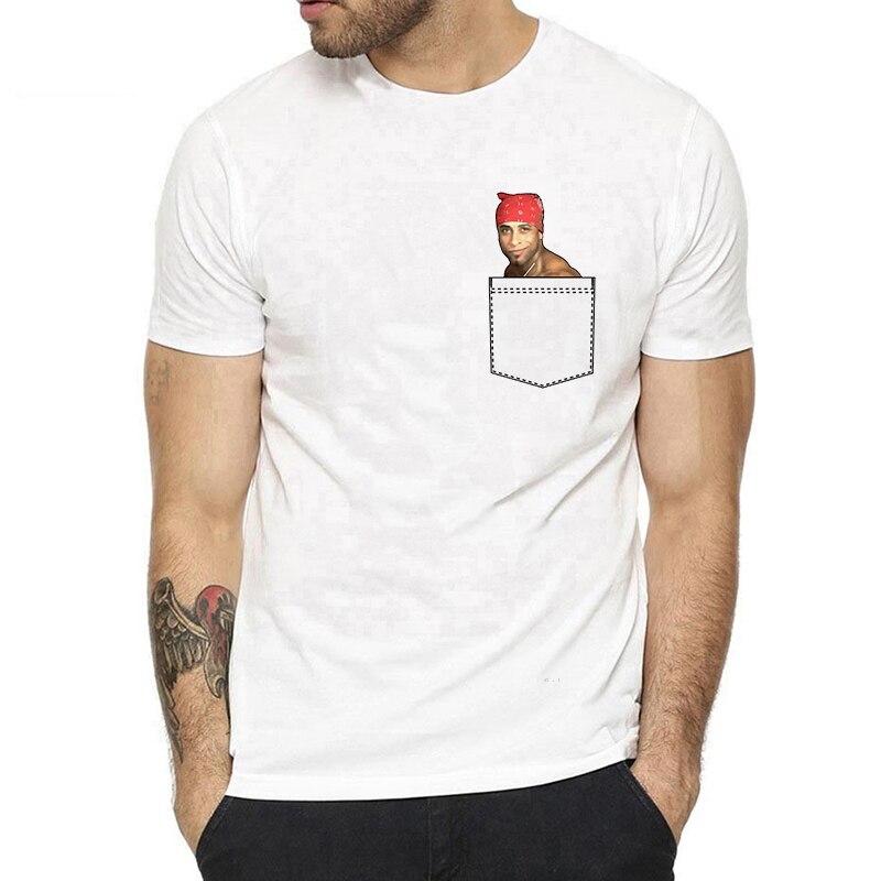 Pocket Ricardo Milos Men T Shirt Anime Vaporwave Aesthetic T Shirts Print Cotton T-shirt Top Tee Clothes Men Harajuku  T Shirt