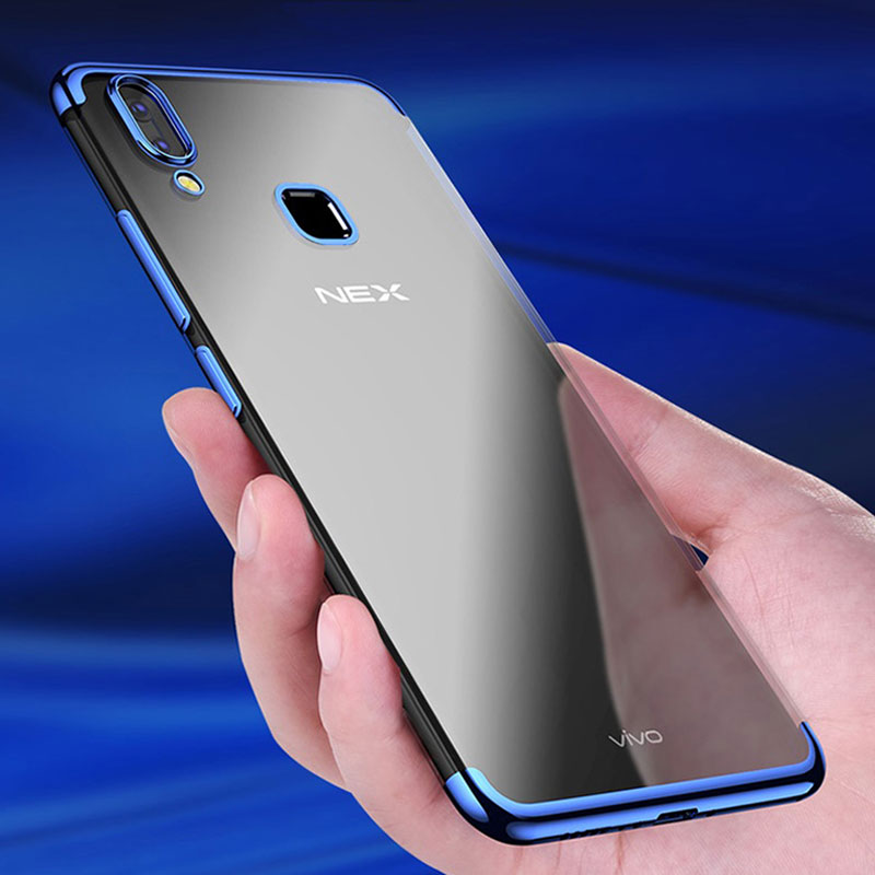 superior quality 25f68 f27e8 US $3.99  For Vivo NEX S Case Luxury Fashion Plating Clear Case Vivo NEX  Soft Silicone Full Cover For Coque Vivo NEX Case-in Fitted Cases from ...