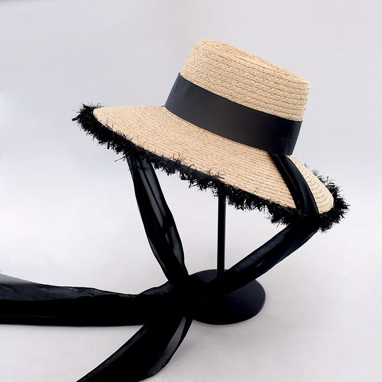 Sun Protection Hat Bucket Straw Hats with Ribbon Tie Women 2018 Summer  Holiday Raffia Beach Hats Ladies Wide Brim Hats 671069-in Sun Hats from  Apparel ... cab1920beea