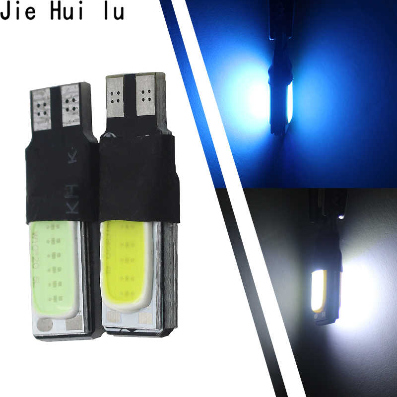 1x High power t10 w5w led cob car led t10 5w5 12v 10 LED bule white car light fog Lamp interior light w5w t10 canbus error free