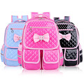 Children Kids Princess Girls Faux PU Leather Backpack Kid Pink Cute Bowknot Primary School Backpacks Daypack Mochila Bag