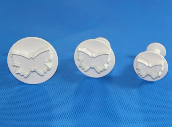 Free Shipping 3pcs Butterfly Plunger Cutter Mold Sugarcraft Fondant Cake Decorating DIY Kitchen Tool