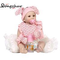 Dongzhur силикона Reborn Baby Куклы 50 см npkdoll Boneca реборн силиконовая COMPLETA Reborn Baby Куклы Игрушечные лошадки для детей Прямая поставка