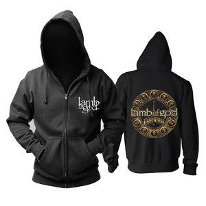 Image 3 - Bloodhoof LAMB OF GOD Death Metal Concert Retro TOP hoodie Asian Size