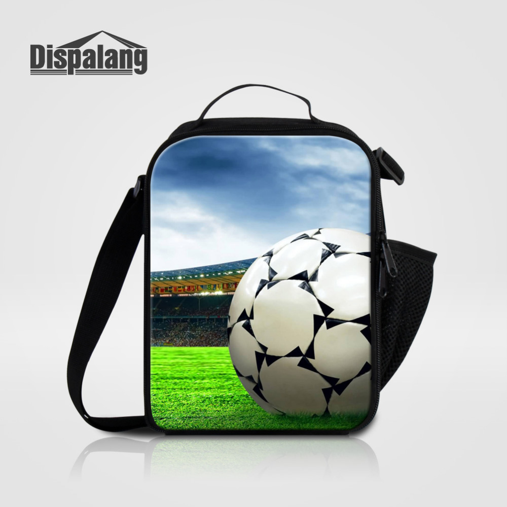 Dispalang Lunch Bag for Students Ball Printing Thermal Bag for Food Storage Insulated Children Kids Lunch Box for School