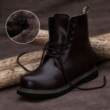 free shipping 2014 Winter fashion plus thick velvet high-top shoes men's snow boots Martin boots lace up motorcycle boots D888