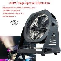 4Pcs/Lot 200W Stage Special Effects Fan DMX 512 Special Effect Fan Snowflake Smoke Machine Stage Performance Fan DJ Equipment