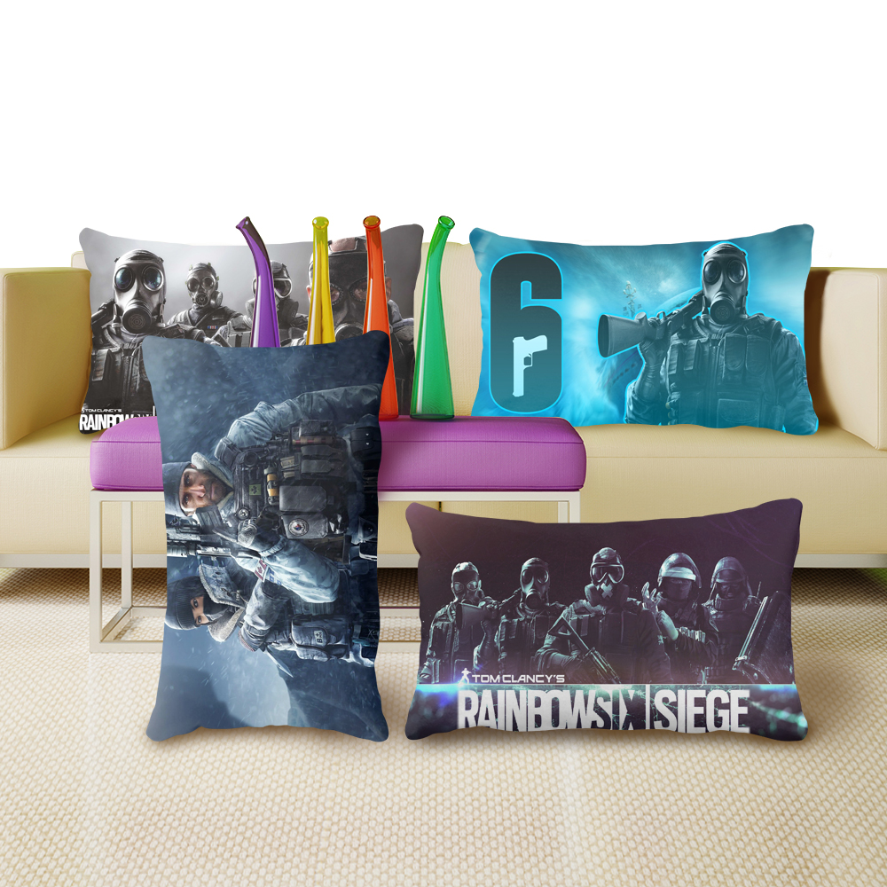 Rainbow Six Siege Vintage Unique Chic Cushion Cover Pillow For Living Room Single Side Printing