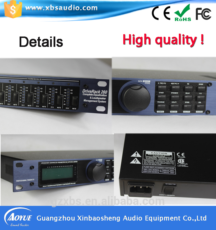 [On Promotion] ktv processor DSP260 Audio digital karaoke processor 2 in 6 out wavelets processor