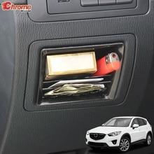 Dla Mazda CX 5 CX5 KE 2012 2013 2014 2015 2016 wewnętrzna kontrola centralna schowek pudełko typu Organizer półka pojemnik pokrywa akcesoria samochodowe