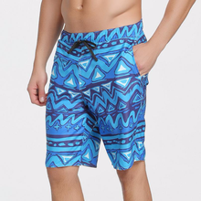 Sbart New The Waves Blue Men's Shorts Wave Patterns Half Pants Beach Dry Quick Trunks Surfing Swimming S625(China)