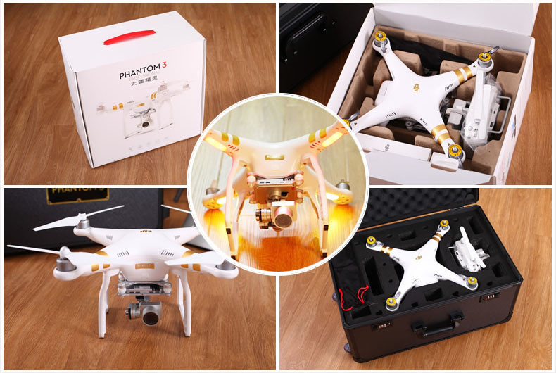 100% Original DJI Phantom 3 Professional with extra battery Drone FPV RC Quadcopter with 4K Camera rc helicopter