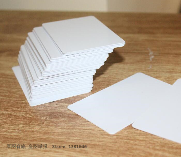 10/50/100pcs Small PVC Plain Plastic ID Cards 0.75mm Thickness Credit Card Size Grey White RAL9002