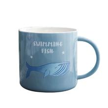 400ml Plant Animal Pattern Ceramic Mug With Handle Heat Resistant Coffee Milk Breakfast Tea Cup Drinkware Cute Student Gift