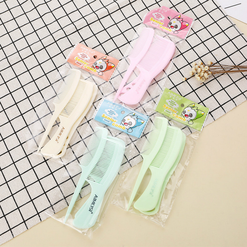 Baby 3Pcs/Set Brush Comb Boys&Girls Soft Hair Combs Newborn Babies Small Portable Plastic Anti-static Comb Sets Randomly Color