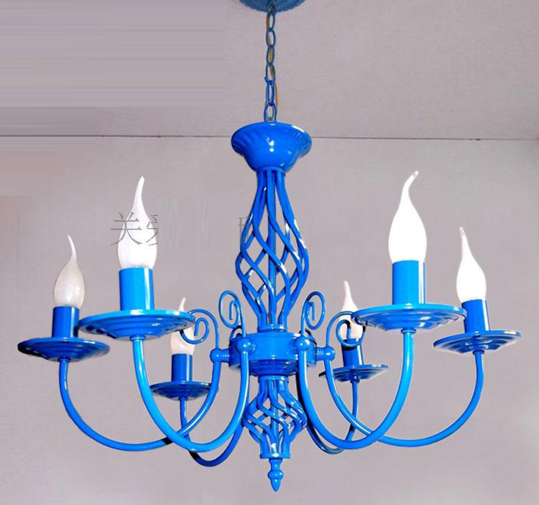 Luxury Painted Iron 6 Lights Dining Room Chandelier Free Shipping New Modern Romantic Chandelier Bedroom Chandelier lamp