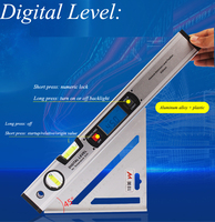 Electronic Digital Display Level Gauge Measuring Equipment Aluminum Alloy High precision Digital Level Decoration Tools