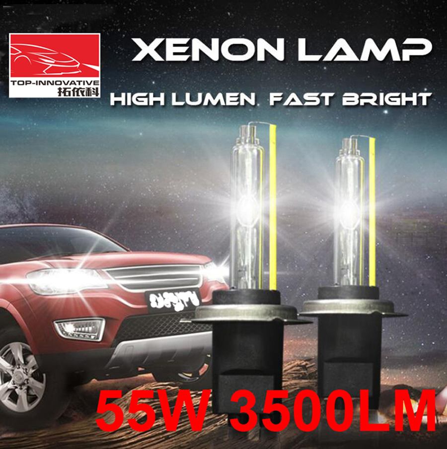 1 Pair 12V 55W 3500LM H1 H3 H7 H8 H9 H11 9005 9006 9012 AC HID Xenon Replacement Headlamps Bulbs G8 High Lumen Fast Bright 5500K