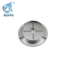 Mechanical level Engineering Vehicle Level Bubble Big Flange Round Size 90*71*20mm