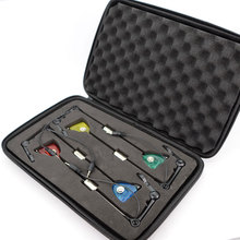Carp fishing Swinger Set LED Bite Indicator 4pcs in Zipped Protection Case