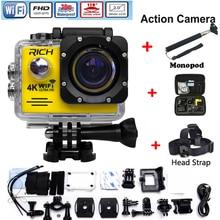 Action Camera wifi for go pro hero 4 Sport Camera 1080P HD 30m Waterproof sports camrea Extra head strap+bag+Monopod
