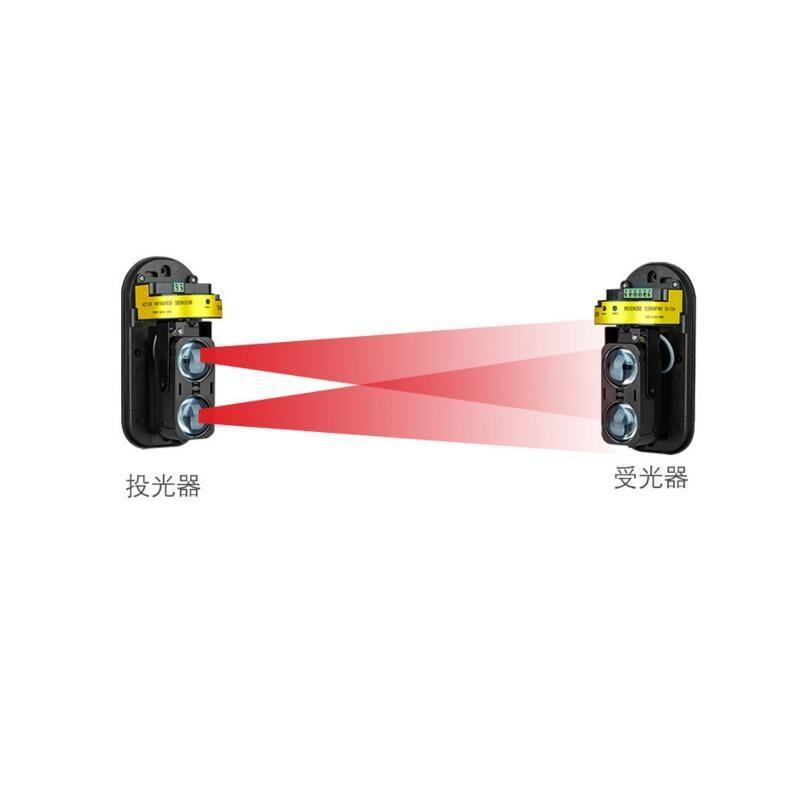 Rilevatore di Intrusione A Infrarossi nuovo Arrivo AlarmBurglar Allarme ABT-150 Fotoelettrico A Doppio Fascio Recinzione Perimetrale Finestra Esterna