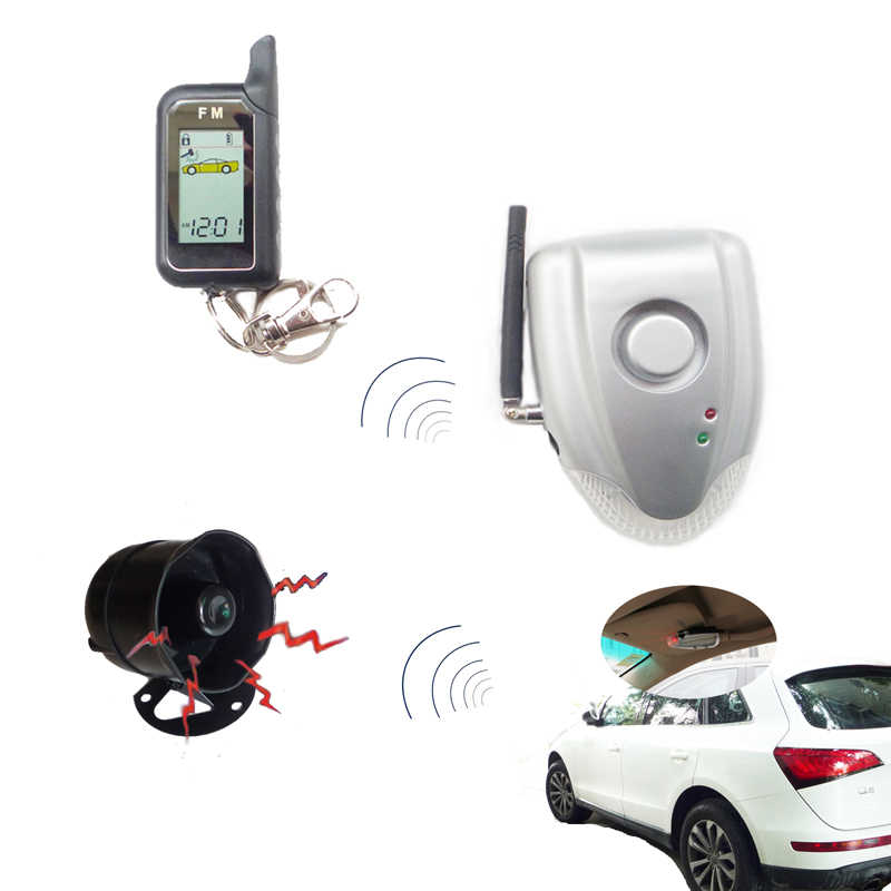 CARSCOP NEW DIY wireless Two Way Car Alarm System Anti Thef Pressure on