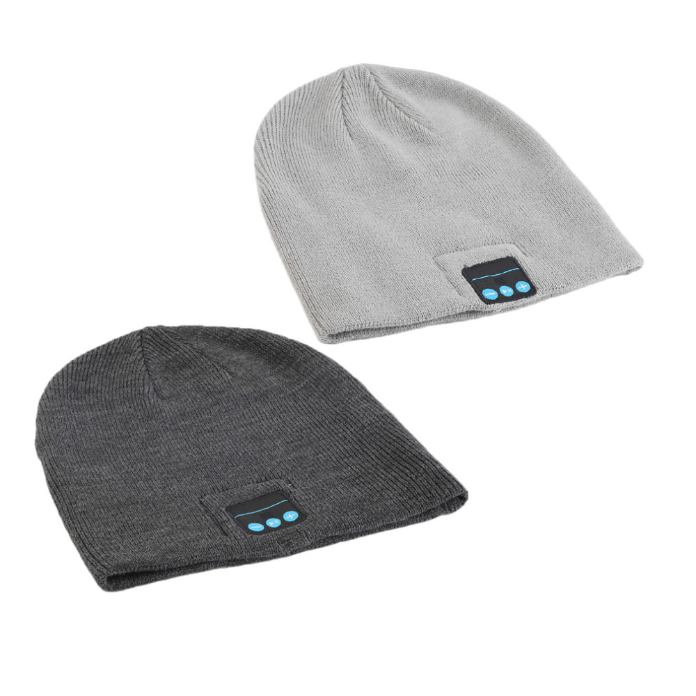 New Hot! Unisex Smart Wireless Bluetooth Music Winter Warm Knitted Beanie Hat Headphones Cap with Handsfree Earphone Hot