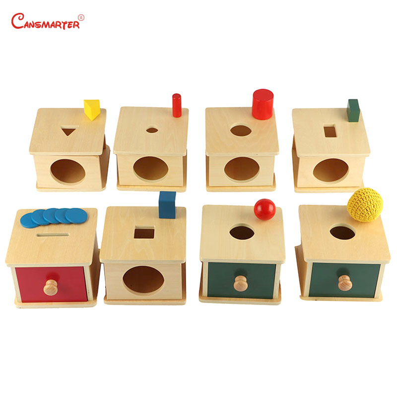 Montessori SInfants&Toddlers Imbucare Boxe Sets Sensry Educational Toys 8-12 Months Home Games Box Wood LT008-S3